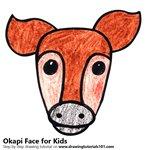 How to Draw an Okapi Face for Kids