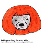 How to Draw a Pekingese Dog Face for Kids