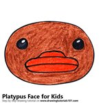 How to Draw a Platypus Face for Kids