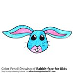 How to Draw a Rabbit Face for Kids