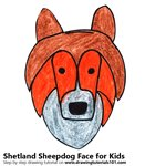 How to Draw a Shetland Sheepdog Face for Kids