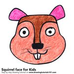 How to Draw a Squirrel Face for Kids