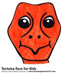 How to Draw a Tortoise Face for Kids