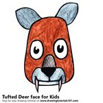 How to Draw a Tufted Deer Face for Kids