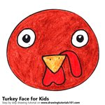 How to Draw a Turkey Face for Kids