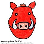 How to Draw a Warthog Face for Kids