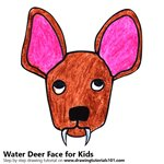 How to Draw a Water Deer Face for Kids
