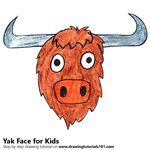 How to Draw a Yak Face for Kids