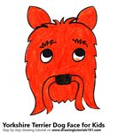 How to Draw a Yorkshire Terrier Dog Face for Kids