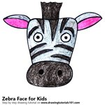 How to Draw a Zebra Face for Kids
