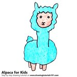 How to Draw an Alpaca for Kids