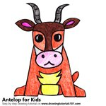 How to Draw an Antelope for Kids