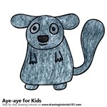 How to Draw an Aye-Aye for Kids