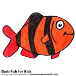 How to Draw a Barb Fish for Kids
