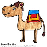 How to Draw a Camel for Kids
