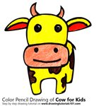 How to Draw a Cow for Kids