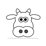 How to Draw Cow Head Cartoon