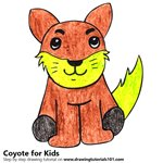 How to Draw a Coyote for Kids
