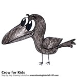 How to Draw a Crow for Kids