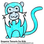How to Draw a Emperor Tamarin for Kids