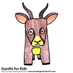 How to Draw a Gazelle for Kids
