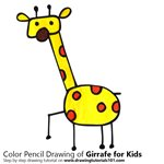 How to Draw a Girrafe for Kids