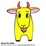 How to Draw a Goat for Kids Easy