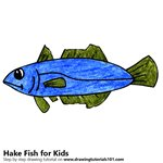 How to Draw a Hake Fish for Kids