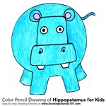 How to Draw a Hippopatamus for Kids