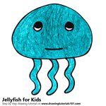 How to Draw a Jellyfish for Kids Very Easy
