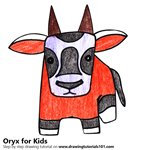 How to Draw an Oryx for Kids