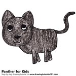 How to Draw a Panther for Kids