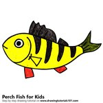 How to Draw a Perch Fish for Kids