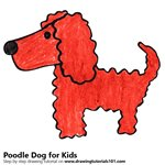 How to Draw a Poodle Dog for Kids