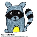 How to Draw a Raccoon for Kids