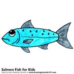 How to Draw a Salmon Fish for Kids
