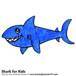 How to Draw a Shark for Kids