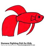 How to Draw a Siamese Fighting Fish for Kids
