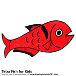 How to Draw a Tetra Fish for Kids