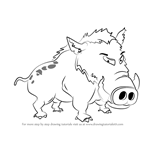 How to Draw Wild Boar for Kids