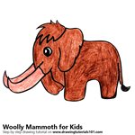 How to Draw a Woolly Mammoth for Kids