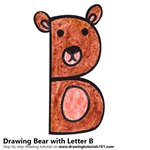 How to Draw a Bear from Letter B