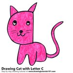 How to Draw a Cat from Letter C