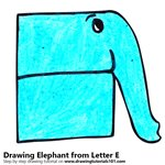 How to Draw an Elephant from Letter E