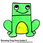 How to Draw a Frog from Letter F