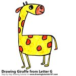 How to Draw a Giraffe from Letter G