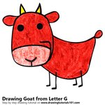 How to Draw a Goat from Letter G