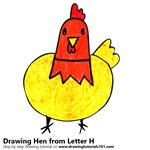 How to Draw a Hen from Letter H
