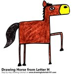 How to Draw a Horse from Letter H