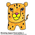 How to Draw a Jaguar from Letter J